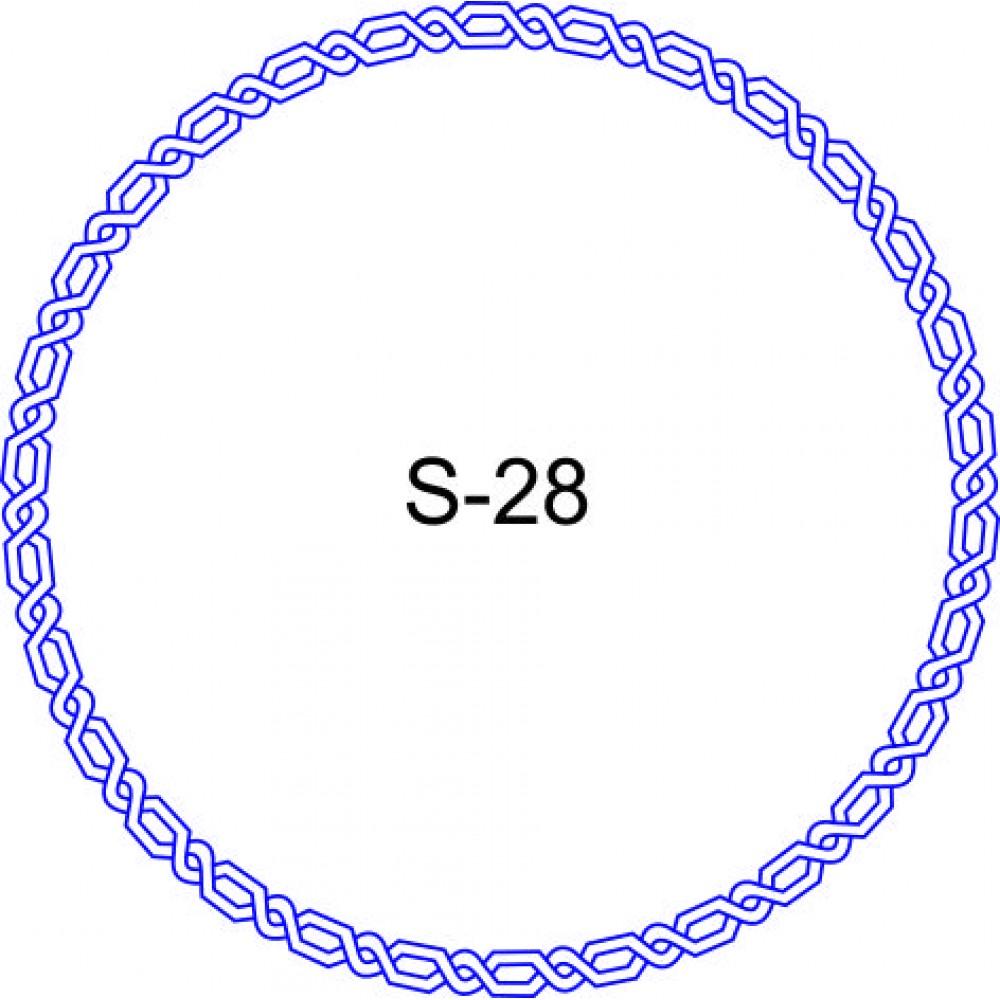 Косичка для печати образец KOS-28
