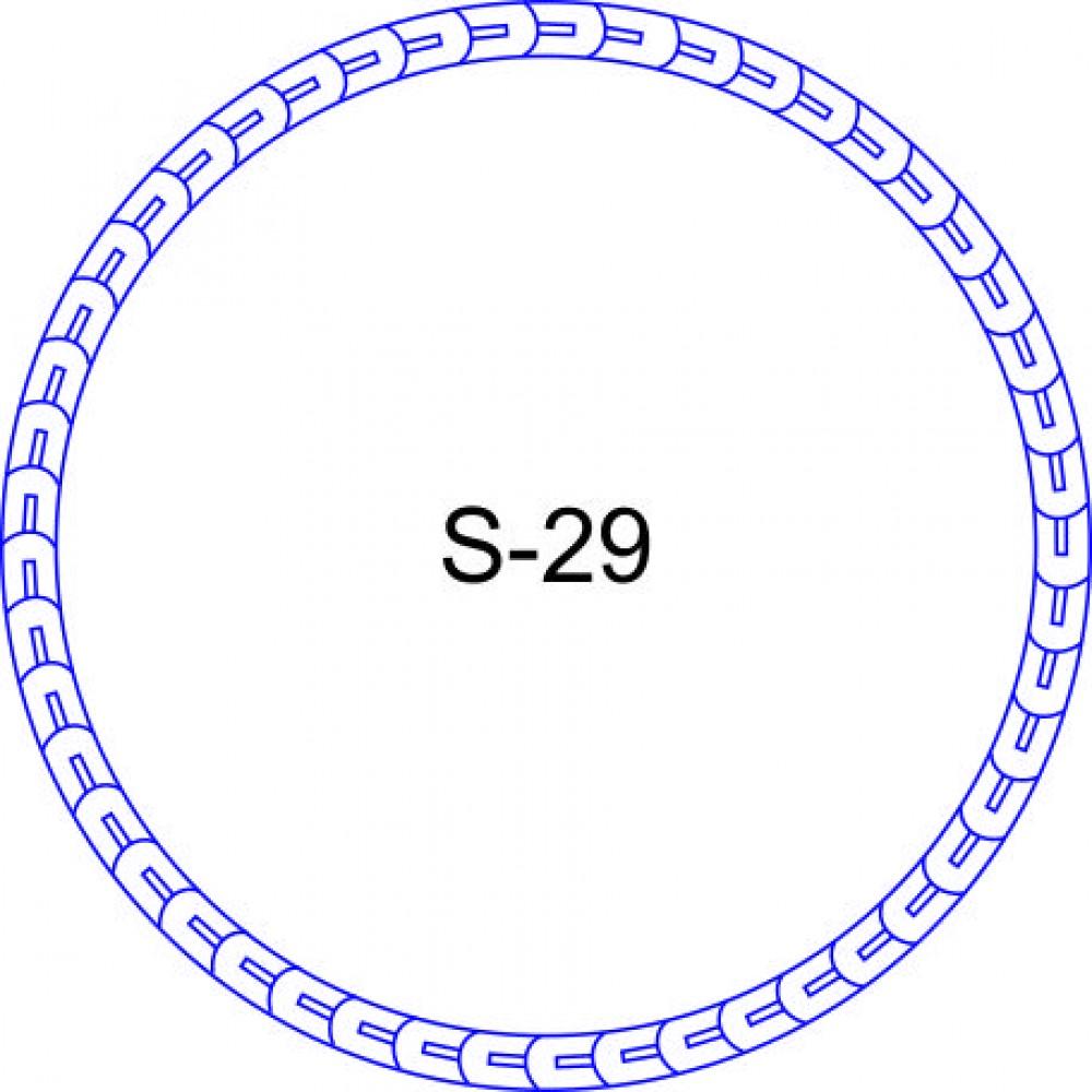 Косичка для печати образец KOS-29