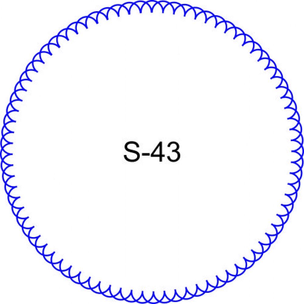 Косичка для печати образец KOS-43