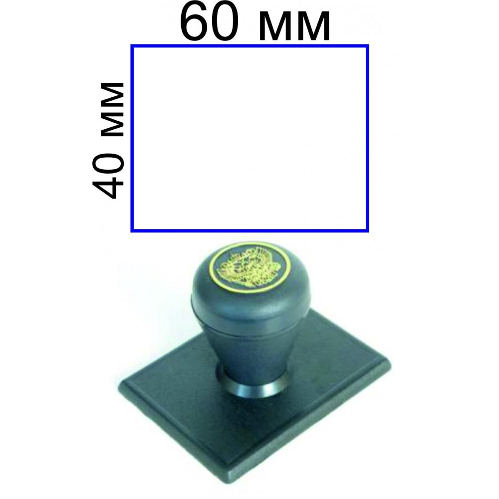 Ручной штамп 40*60 мм