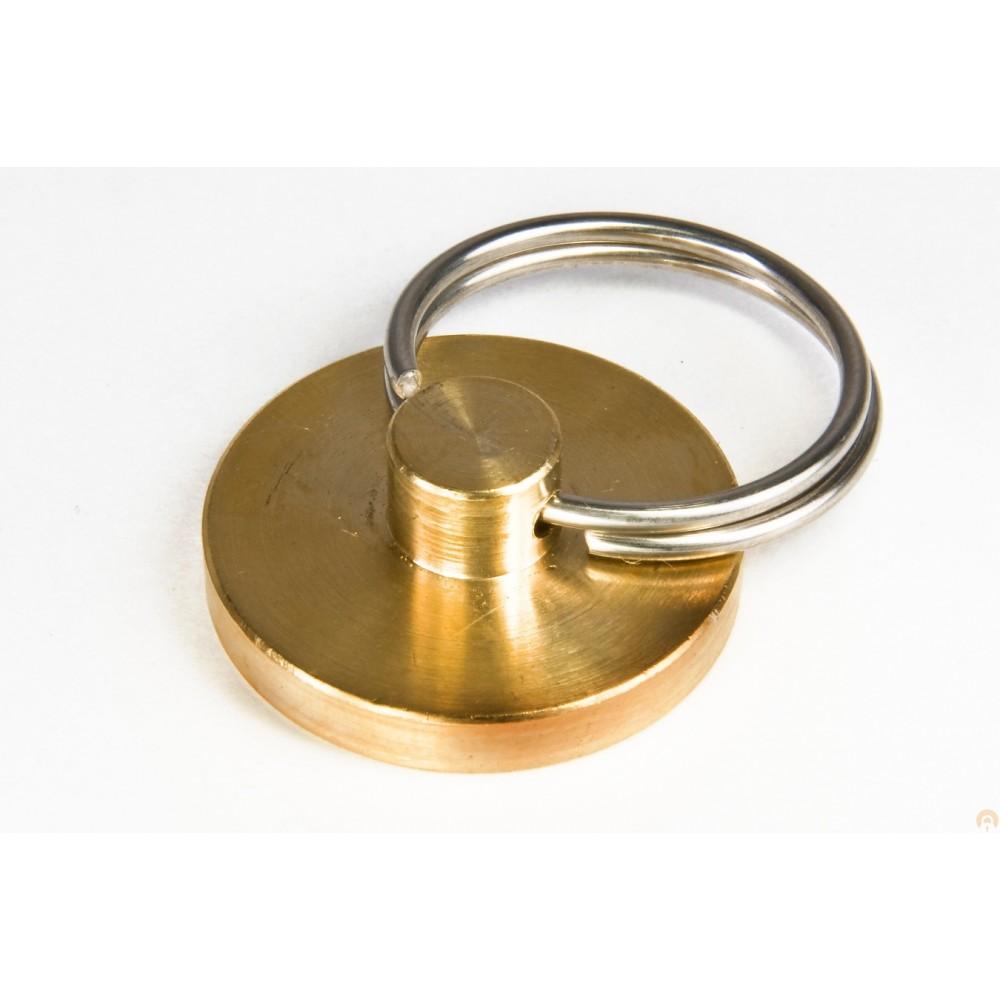 Металлическая печать под пластилин с гравировкой (латунь)
